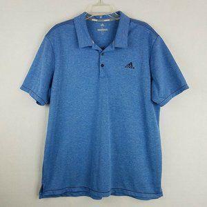 Adidas Go To Golf Polo XL Mens Blue Breathable